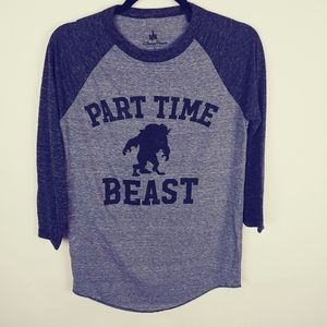 Part time beast Beauty and the Beast tee, S